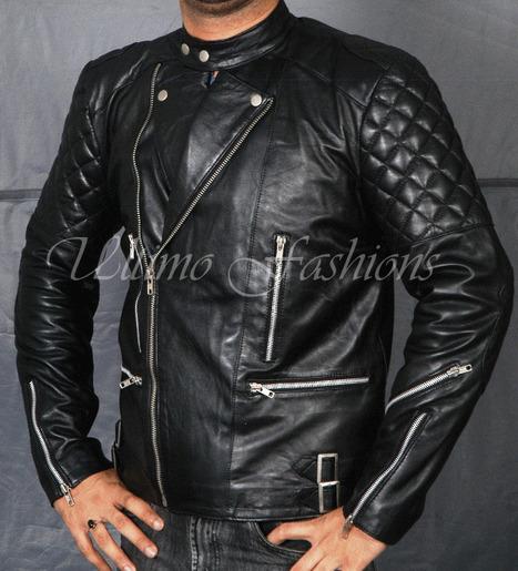 Black Biker Brando Punk Jacket   You like leather jackets since nobody ignored it   Scoop.it