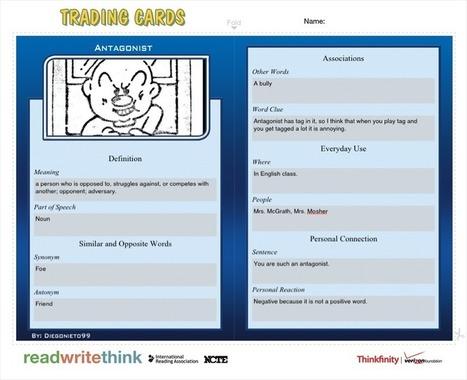 Vocabulary iCues: Trading Cards « techchef4u | iPad toolkit | Scoop.it