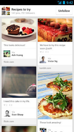 Pinterest, arriva la versione mobile per Android e iPad | InTime - Social Media Magazine | Scoop.it