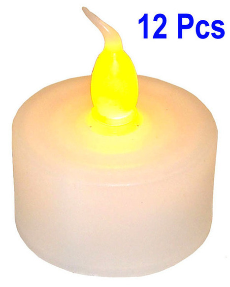 Flameless LED Tea Light Candles Yellow Light - Set of 12   Celebrate and plan   Scoop.it