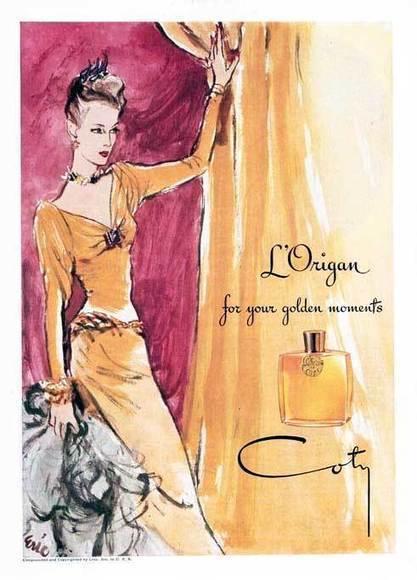 Publicité du parfum L'Origan de François Coty | Publicités et parfum | Scoop.it