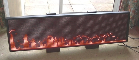 Raspberry Pi Driven 128×32 LED sign | led factory systems | Scoop.it