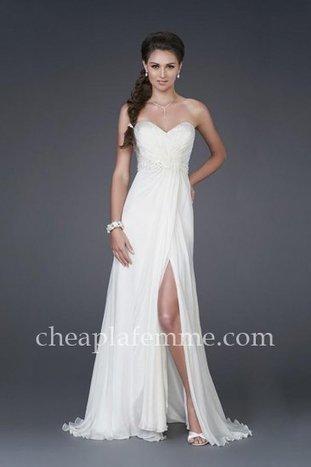 Cheap Strapless Ruched Side Split La Femme 15368 Dresses for Bridal [La Femme 15368] - $175.00 : La Femme   La Femme Dresses   Cheap La Femme   BCBG & Herve Leger   Scoop.it