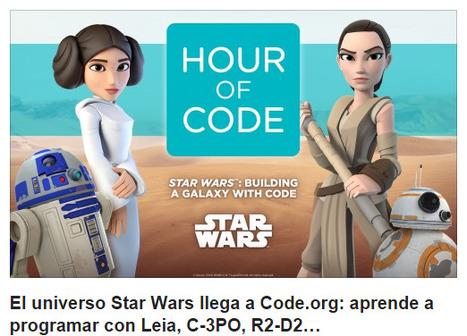 El universo Star Wars llega a Code.org: aprende a programar con Leia, C-3PO, R2-D2… | Pedalogica: educación y TIC | Scoop.it