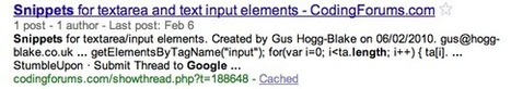 Anatomy Of A Google Snippet   internet search, semantic web & case based reasoning   Scoop.it