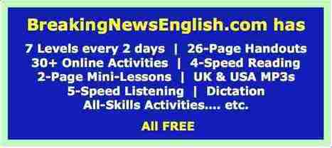 Breaking News English - Easier News Lessons | Using the Internet to Teach & Learn: A CELTA Input Session | Scoop.it