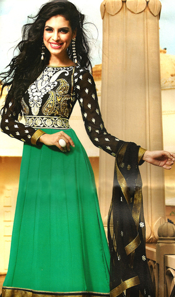 Anarkali suit Highlighted with Zari and Resham Work | dulhanebegum | Scoop.it