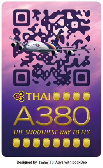 bookBeo - QR Code Design : ça plane pour THAI Airways ! | M-Marketing | Scoop.it