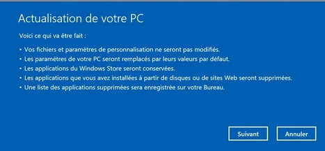 Actualisez Windows 8 plutôt que de le réinstaller - FraWin | Seniors | Scoop.it