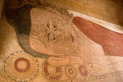Reclining Buddha, Fine Fresco at Sulamani Temple in Bagan Wild About Travel | The Blog's Revue by OlivierSC | Scoop.it