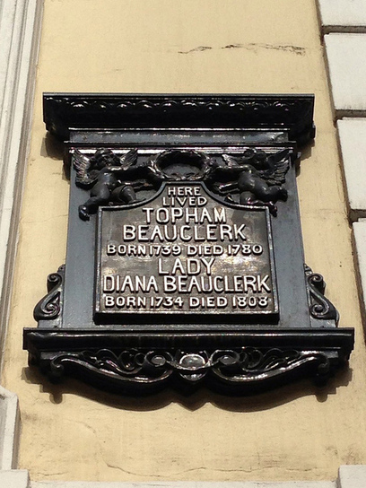 Commemorative plaque for Topham Beauclerk & Lady Diana Beauclerk, Great Russell Street, Bloomsbury. | Memorial, Monument and Mausoleum Designers | Scoop.it