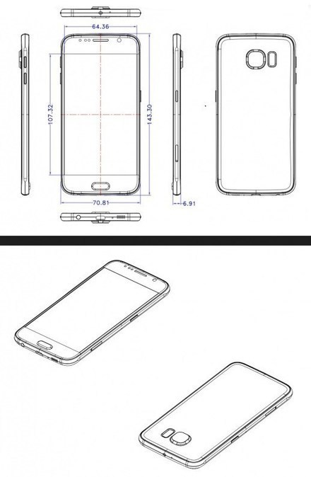 Now You Can Get To Know Over The Galaxy S6 Dimension Via Leaked Sketches | Mobile Phone News, Reviews & Offers | Scoop.it