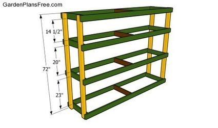 Garage Shelving Plans | Free Garden Plans - How to build garden projects | Backyard Plans | Scoop.it