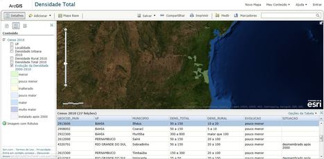 Mapa da Densidade Demográfica dos Municípios Brasileiros | Innovation and GIS | Scoop.it