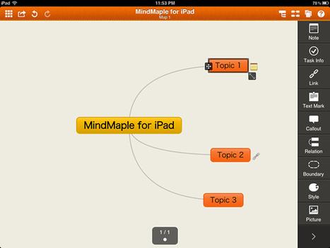New MindMaple HD iPad app makes impressive debut - Mind ... | Mind Mapping Madness | Scoop.it