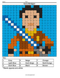Ezra Bridger- Star Wars Rebels Subtraction | Coloring Squared | Scoop.it