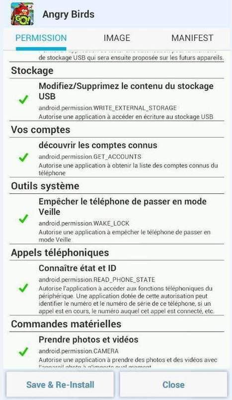 Supprimer des permissions sur des programmes Android, APK Permission Remover | Time to Learn | Scoop.it
