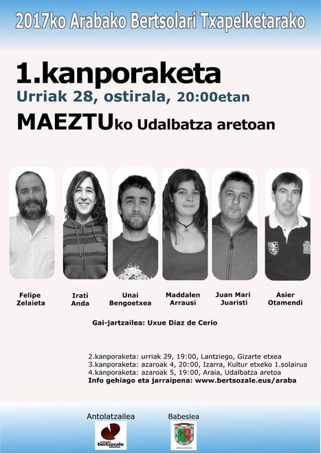 2017ko Arabako Bertsolari Txapelketarako 1.kanporaketa | Mendialdea.info | Scoop.it