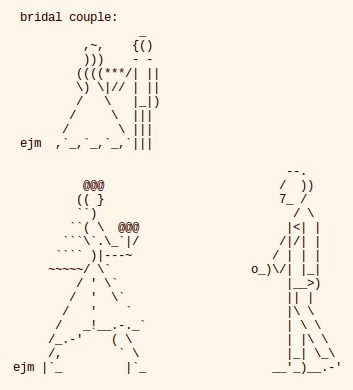 festive occasions (ASCII-art by llizard aka ejm) | ASCII Art | Scoop.it