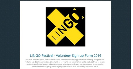 LINGO Festival - Volunteer Sign-up Form 2016 | The Irish Literary Times | Scoop.it