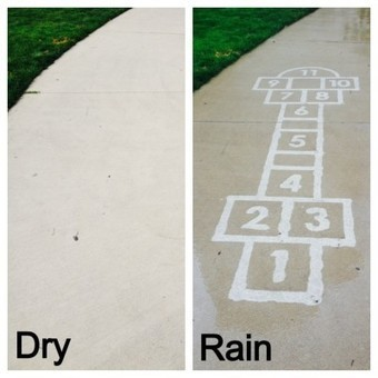 Artist Creates Water-Activated Street #Art To Make People Smile On Rainy Day | Design Ideas | Scoop.it