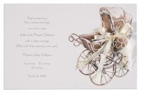 Buy Wicker Pram Baby Shower Invitations Cards Online | Shop for Home | Scoop.it