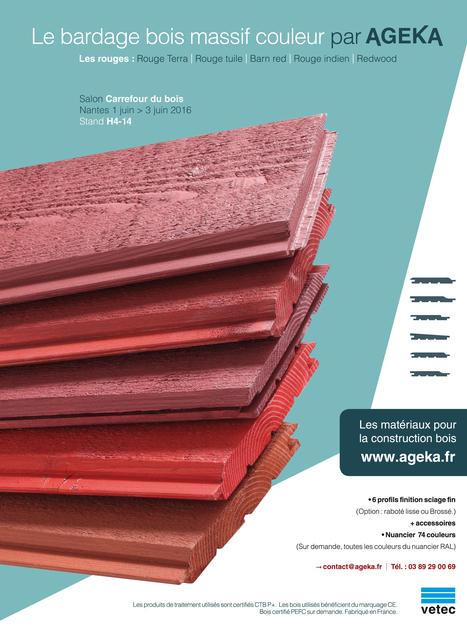 Le bardage bois couleur par AGEKA | Ageka les matériaux pour la construction bois. | Scoop.it