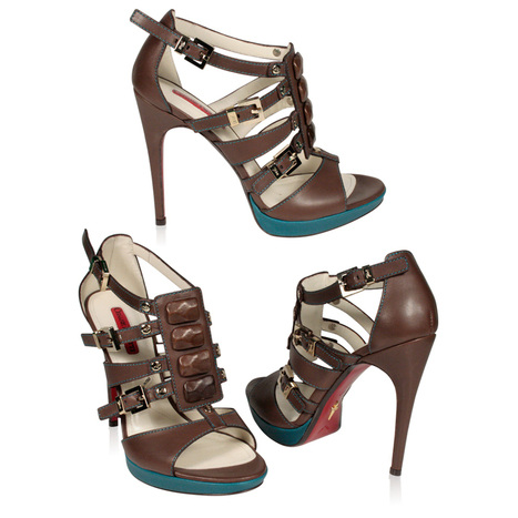 Cesare Paciotti Womens Brown Napa Leather High Heel Sandals | Designer Womens Shoes | Scoop.it