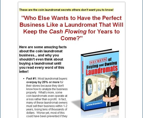 Social News Source: Secrets Of Buying And Owning Laundromats   Best Social Media on the Web   Scoop.it
