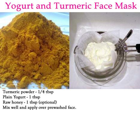 Turmeric and Yogurt Face Mask Benefits - Skin Disease Remedies   Skin Disease Remedies   Scoop.it