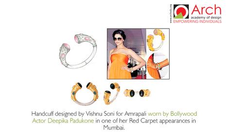 Handcuff designed by Vishnu Soni for Amrapali worn by Bollywood Actor Deepika Padukone | Jewellery Design Courses | Scoop.it