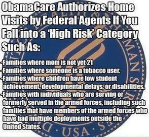 0bamacare authorizes home visits if former military,high risk,mom under 21 ... | Current Politics | Scoop.it