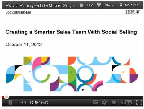 Social Selling with IBM and SugarCRM (Webinar) (IBM Video Portal) | Social Selling:  with a focus on building business relationships online | Scoop.it