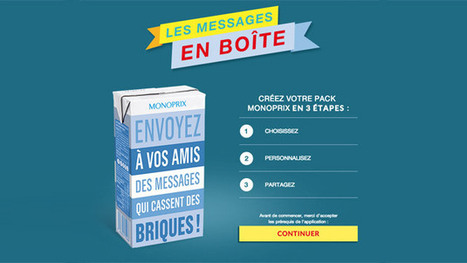 Monoprix : une app pour personnaliser le packaging | Veille, marketing, digital, content | Scoop.it
