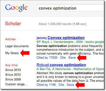 Google Scholar Library - Google Scholar Blog | Search Smarter with Google : news, comparisons, whatever | Scoop.it