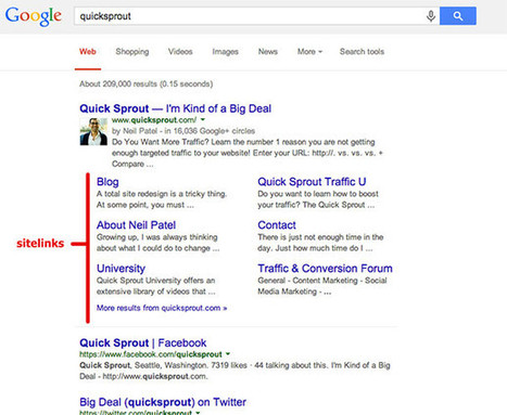 How Google 'Sitelinks' Can Improve Your SEO | Writing for the web & content marketing | Scoop.it
