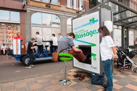 Mobiliário urbano que te faz até massagem nos pés | Out of Home | Scoop.it
