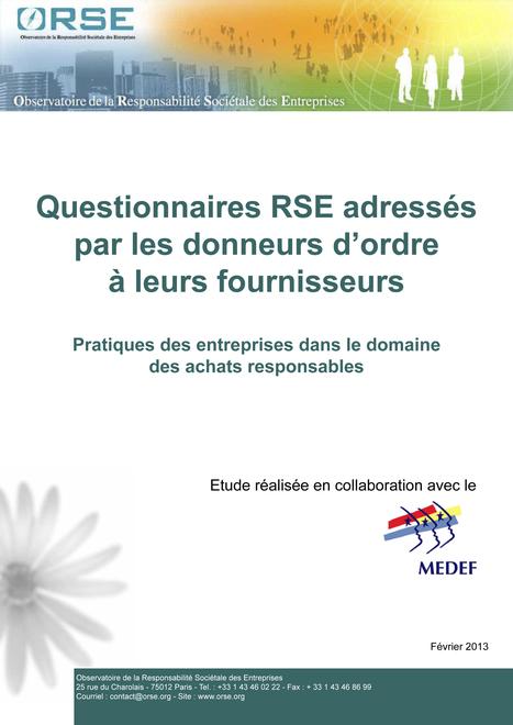 Questionnaires RSE, la mort des achats responsables ? | Achats Responsables | Scoop.it