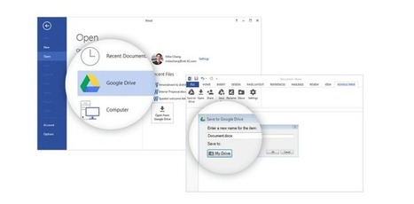 Google's new Microsoft Office plugin allows users to open and save Drive files | Technology | Scoop.it
