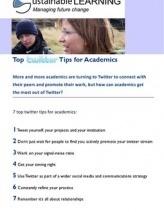 Top Twitter Tips for Academics | Social media and higher education | SOME and Higher education | Scoop.it