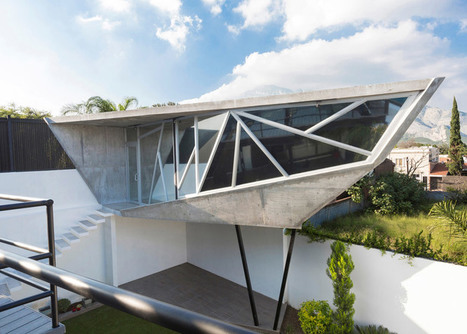 Faceted concrete capsule by Noborders Collective extends a Mexican residence | Concrete.Network | Scoop.it