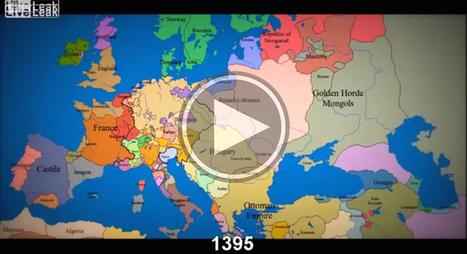 1000 ans d'évolution des frontières en Europe avec un timelapse hallucinant... | ENT | Scoop.it