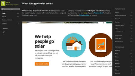 3 outils en ligne pour choisir la bonne typo pour votre site | Time to Learn | Scoop.it