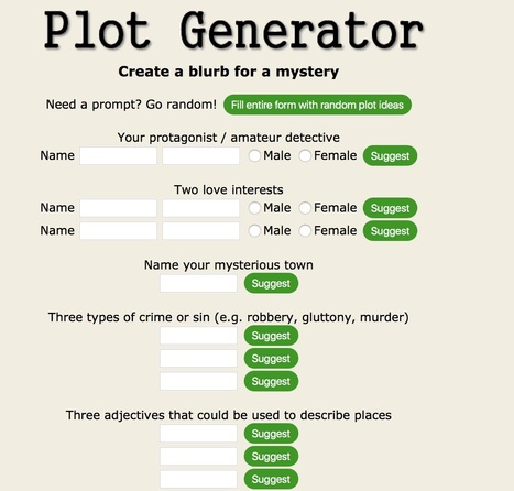 Plot Generator | E-learning, Blended learning, Apps en Tools in het Onderwijs | Scoop.it