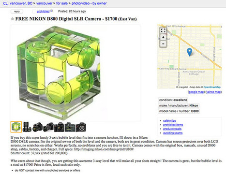 Here's a Clever Way to Sell Your DSLR on Craigslist | xposing world of Photography & Design | Scoop.it