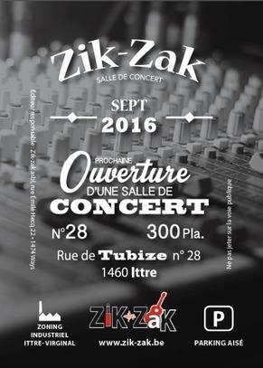 Le Zik-Zak: Ouverture d'une nouvelle salle de concert à Ittre! | Milieu musical en Belgique | Scoop.it