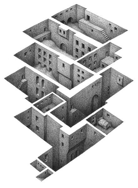 KAIAK.TW | 城市美學的新態度: 探索想像中的建築手繪插畫 - Mathew Borrett | 建築 | Scoop.it