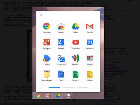 Google Chrome : bientôt un lanceur d'applications web | Réseaux Sociaux Maverick | Scoop.it