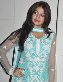 Cute Actress Varsha Ashwathi in Lucknowi Churidar Dress with Transparent Sleeves | Indian Fashion Updates | Scoop.it