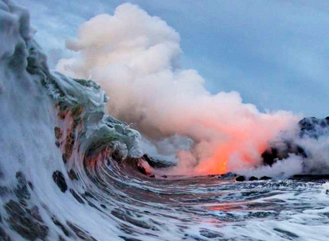 Extremely dangerous lava surf photography is completely worth the ... | creative photography | Scoop.it